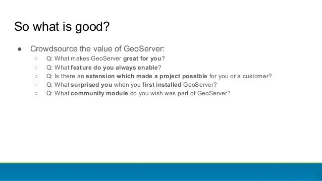 GeoServer Feature FRENZY Slide 3