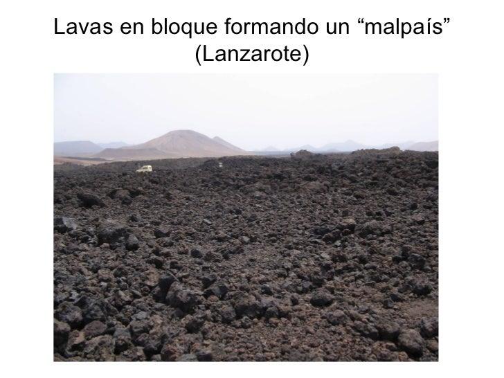 """Lavas en bloque formando un """"malpaís"""" (Lanzarote)"""