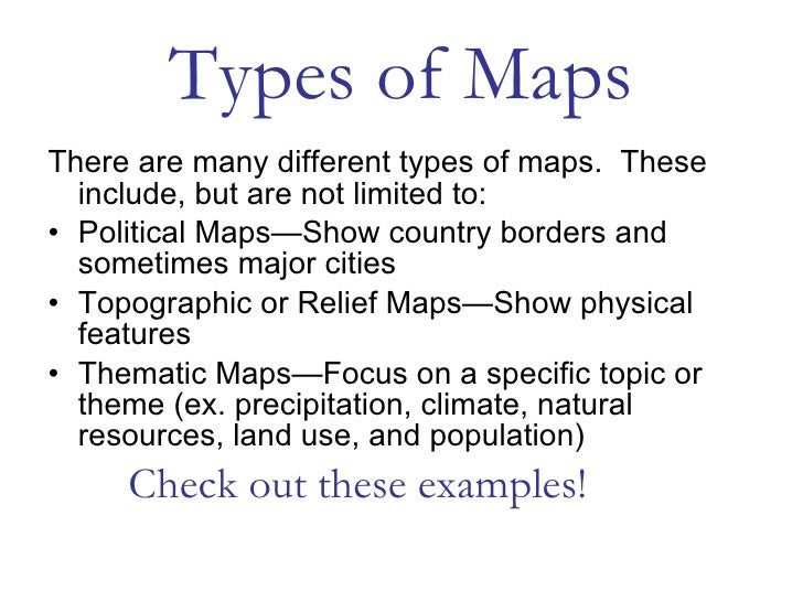 geo skills 1 map types. Black Bedroom Furniture Sets. Home Design Ideas
