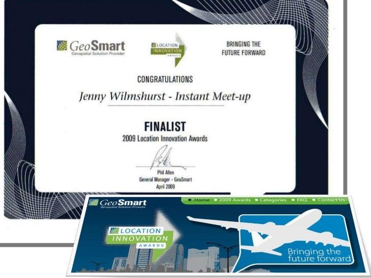 GeoSmart Location Innovation Awards Jenny Wilmshurst Slide 1