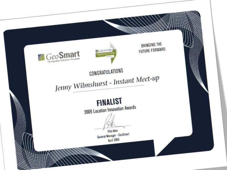 GeoSmart Location Innovation Awards Jenny Wilmshurst Slide 2
