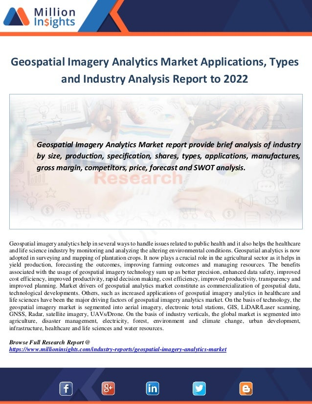 geospatial imagery analytics market applications types and industry