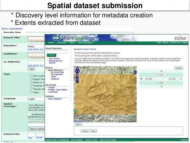 Geospatial metadata and spatial data workshop: 19 June 2014