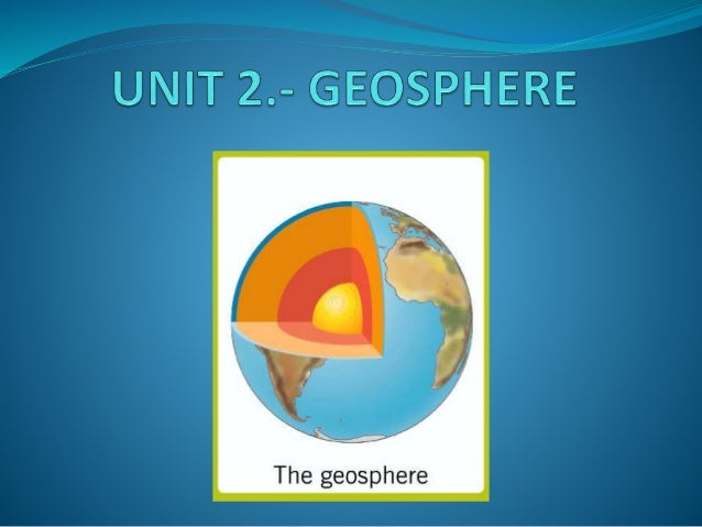 INDEX 1. The internal structure of the Earth. 1.1. The Geosphere. 1.2. Plate tectonics. 2. Relief formation. 2.1. Internal...