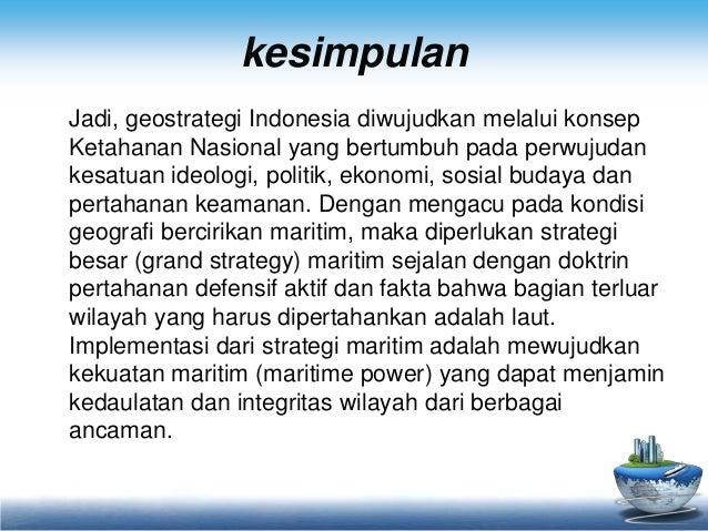 Kesimpulan Geostrategi Indonesia