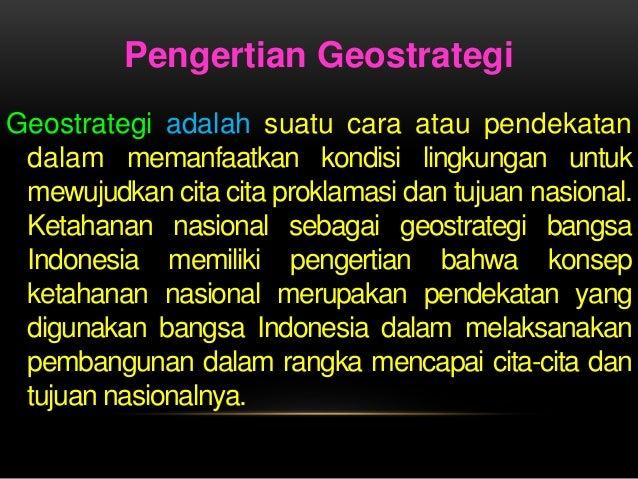 Geostrategi adalah