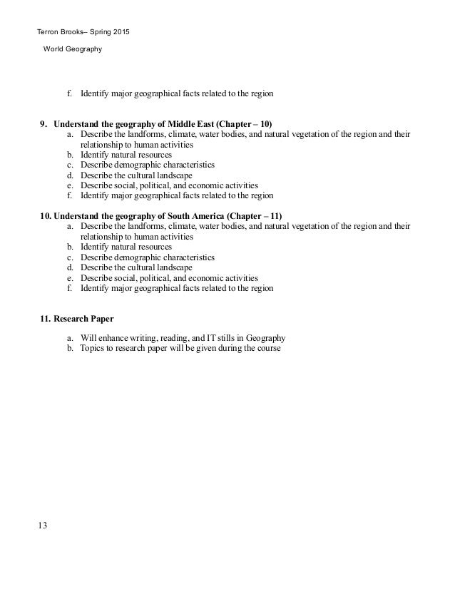 middle east research paper topics