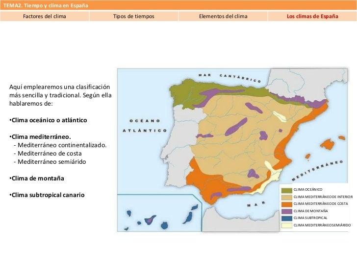 Tema 2 tiempo y clima en espa a 4 climas de espa a for Clima mediterraneo de interior