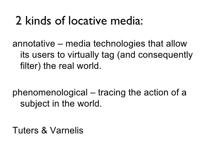 Geotagging, Locative Media & Storytelling Slide 3