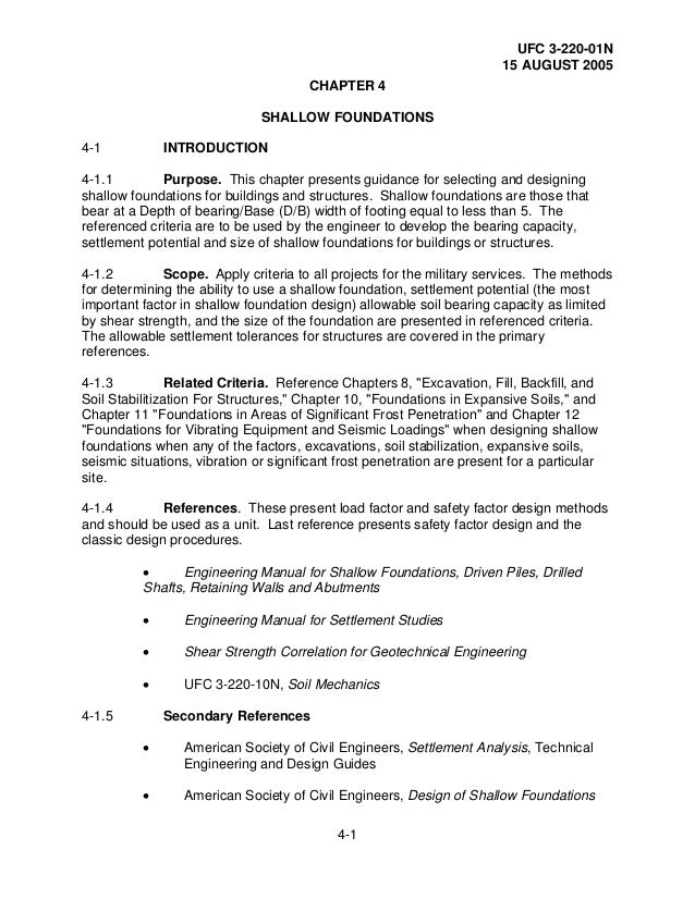 Geotechnical engineering procedures for foundation