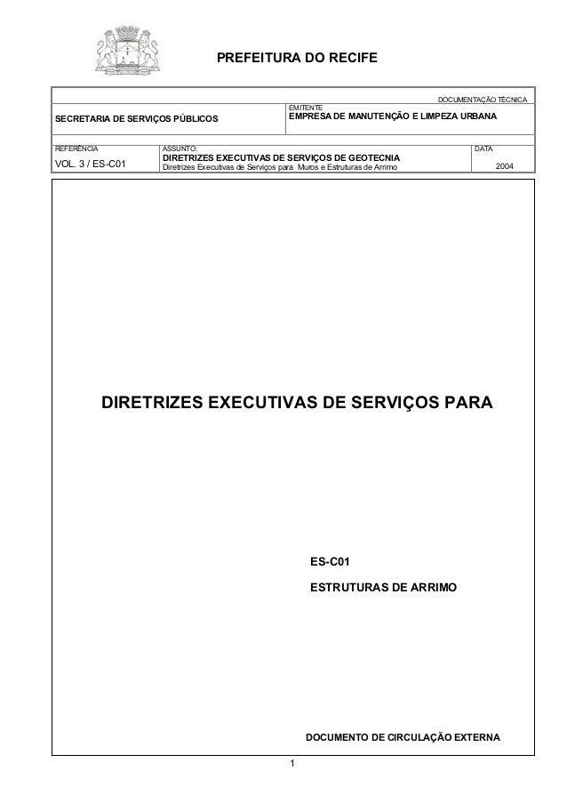 DOCUMENTAÇÃO TÉCNICA  SECRETARIA DE SERVIÇOS PÚBLICOS  EMITENTE  EMPRESA DE MANUTENÇÃO E LIMPEZA URBANA  REFERÊNCIA  VOL. ...
