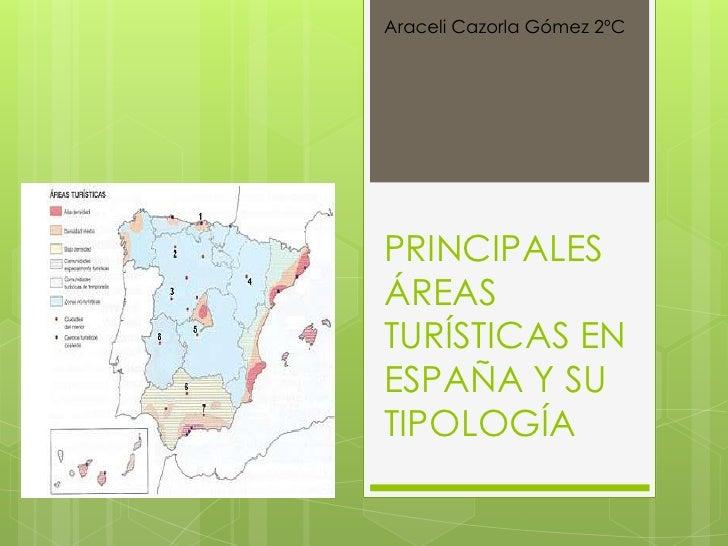 Araceli Cazorla Gómez 2ºCPRINCIPALESÁREASTURÍSTICAS ENESPAÑA Y SUTIPOLOGÍA