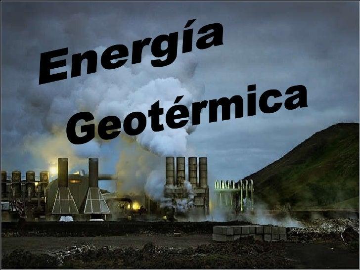 Geotérmica Energía