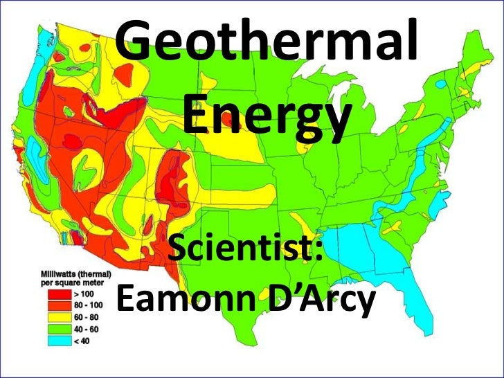 Geothermal Energy<br />Scientist: Eamonn D'Arcy<br />