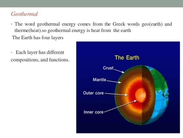 Geothermal Energy Chart
