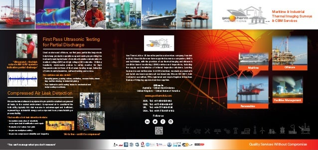'You can't manage what you don't measure' Maritime & Industrial Thermal Imaging Surveys & CBM Services Quality Services Wi...