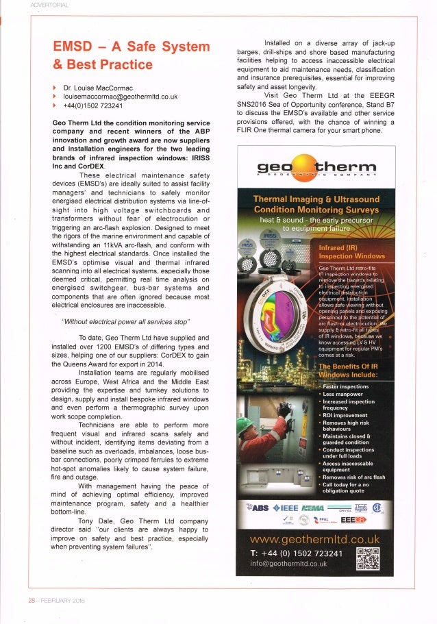 Geo Therm Ltd.  EMSD   a safe system & best practice