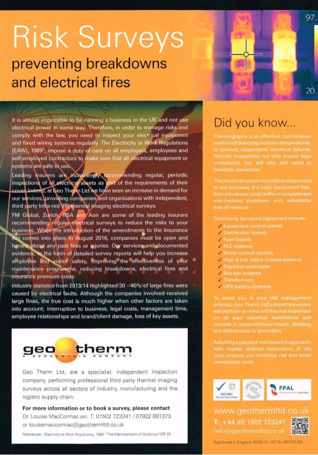 Geo therm ltd fm business leaflet 2016 risk surveys it is almost impossible to be running a business in the uk and not publicscrutiny Image collections