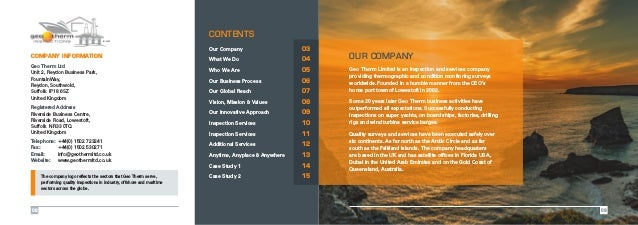 Est. 2002 Our Company 03 What We Do  04 Who We Are 05 Our Business Process  06 Our Global Reach 07 Vision, Mission & ...
