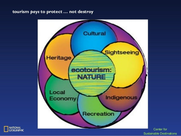 Center for Sustainable Destinations tourism pays to protect … not destroy