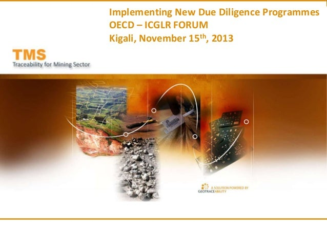 Implementing New Due Diligence Programmes OECD – ICGLR FORUM Kigali, November 15th, 2013  1