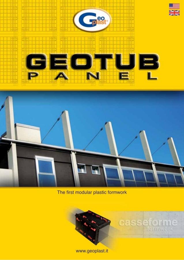 Geotub panel - COFRAJ REFOLOSIBIL PENTRU COLOANE DREPTE
