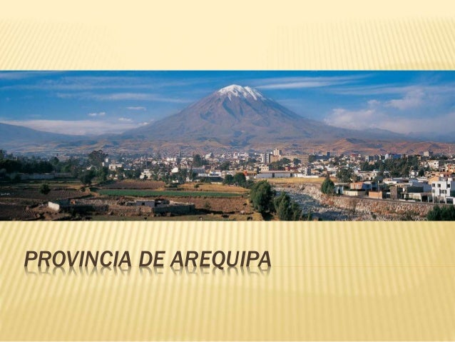 PROVINCIA DE AREQUIPA