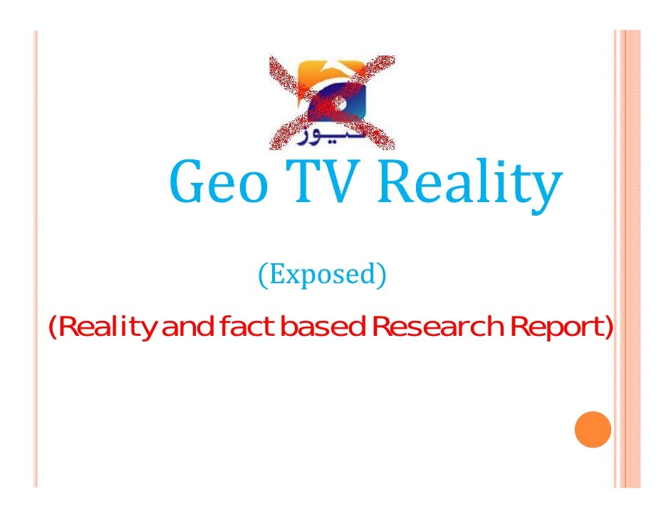 (Reality and fact based Research Report)