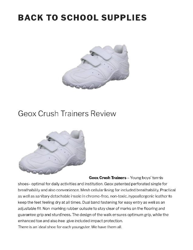 Geox crush trainers review