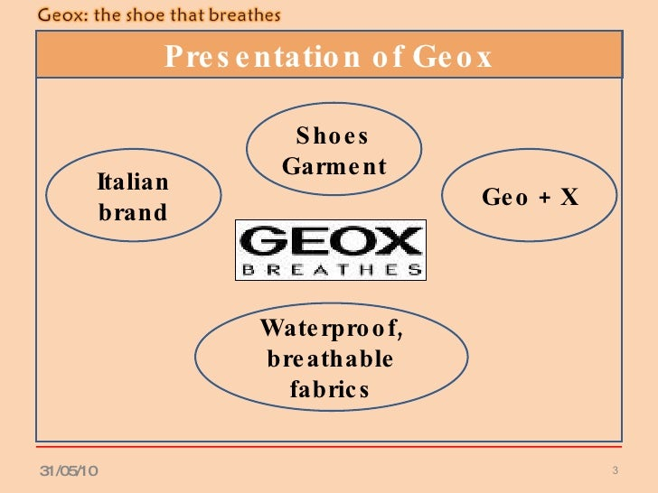 geox strategic marketing Geox shoes swot analysis january 12, 2018 joseph  the expansion strategy to new markets has created new opportunities for increased sales for the company globalization has also made it easy for the company to enter new markets with less restriction  increased technology adoption has also enabled the company to enhance their marketing.