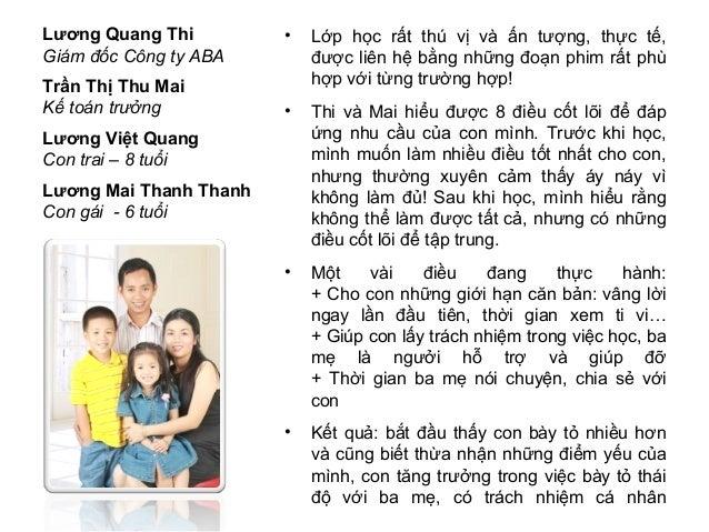 Lương Quang Thi         •   Lớp học rất thú vị và ấn tượng, thực tế,Giám đốc Công ty ABA        được liên hệ bằng những đo...