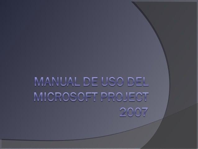 Crear Información del proyecto Aquí se modifica la fecha de inicio y termino del proyecto Aquí seleccionas el tipo de cale...
