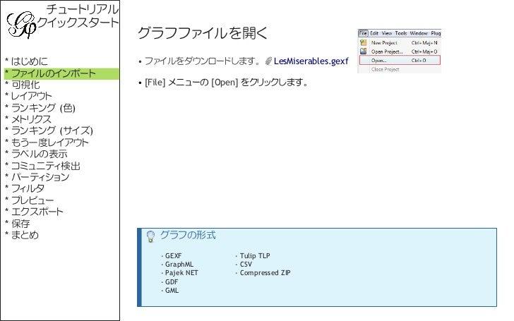 Gephi Quick Start (Japanese) Slide 2