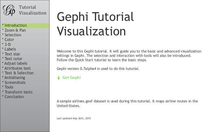 Gephi Tutorial Visualization
