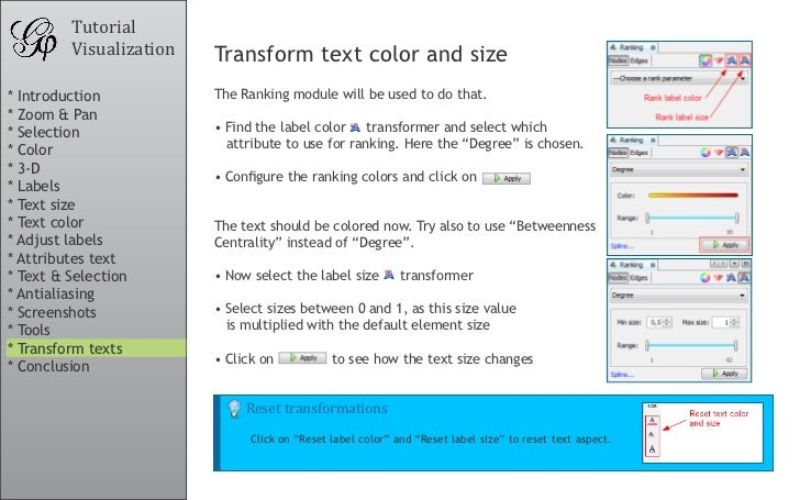Tutorial          Visualization   Transform text color and size * Introduction           The Ranking module will be used t...