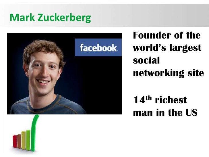 Mark Zuckerberg                  Founder of the                  world's largest                  social                  ...