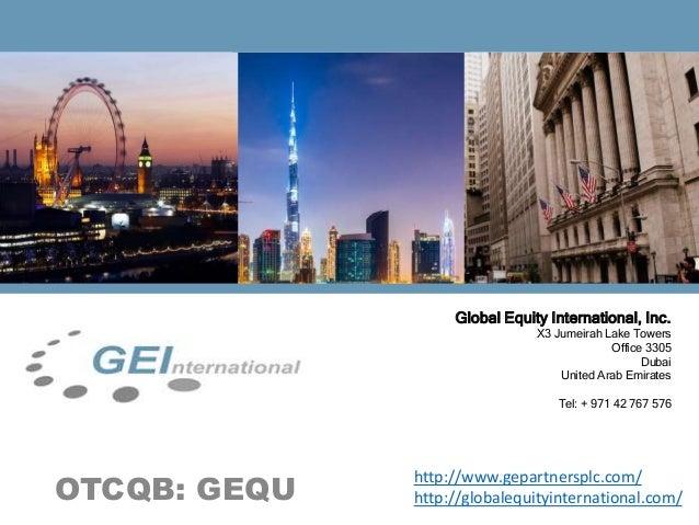 GE International Investor Deck