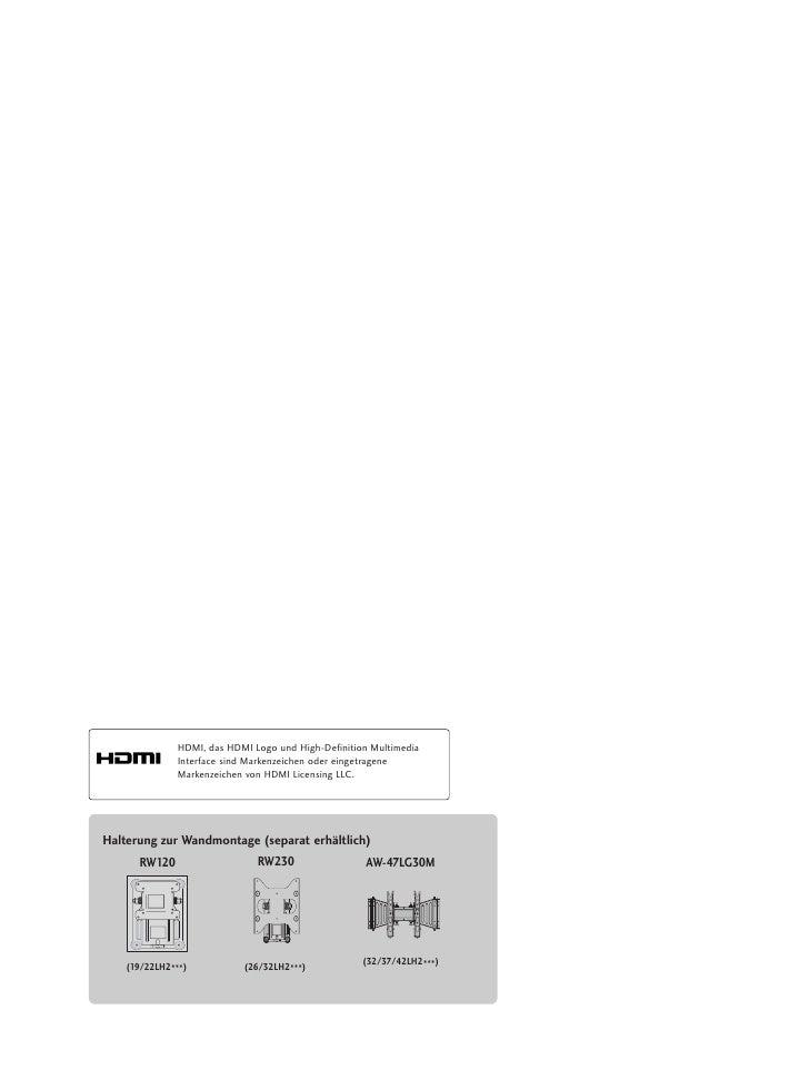 HDMI, das HDMI Logo und High-Definition Multimedia               Interface sind Markenzeichen oder eingetragene           ...