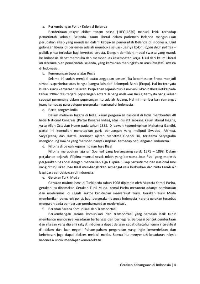 Citaten Politiek Luar Negeri : Gerakan kebangsaan di indonesia