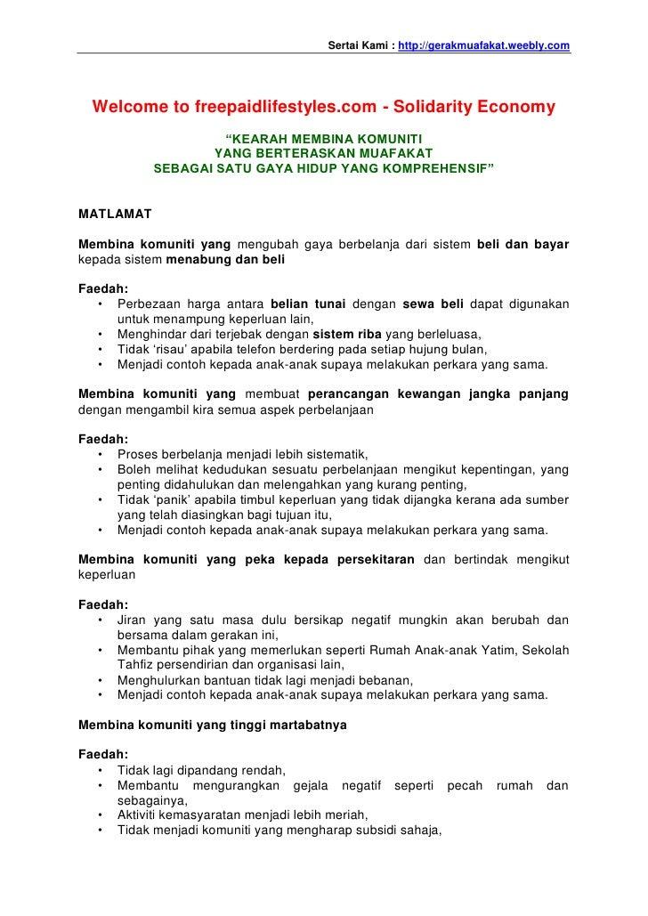 Sertai Kami : http://gerakmuafakat.weebly.com  Welcome to freepaidlifestyles.com - Solidarity Economy                     ...