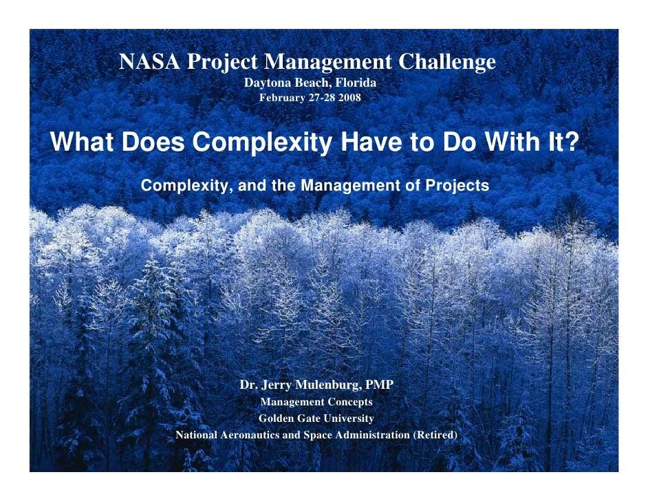 NASA Project Management Challenge                       Daytona Beach, Florida                          February 27-28 200...