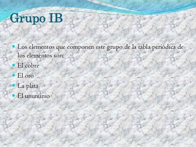 Grupo ib de la tabla peridica urtaz Choice Image
