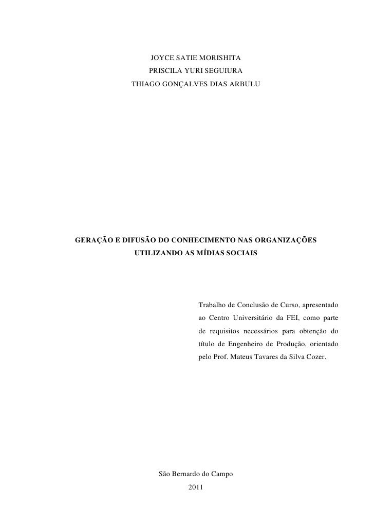 1               JOYCE SATIE MORISHITA               PRISCILA YURI SEGUIURA           THIAGO GONÇALVES DIAS ARBULUGERAÇÃO E...