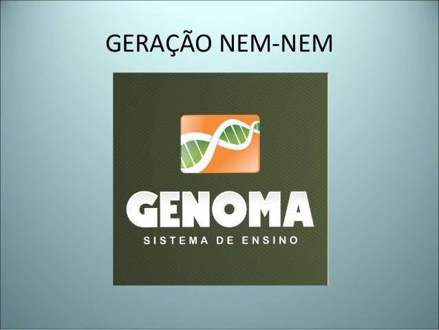 GERAÇÃO NEM-NEM
