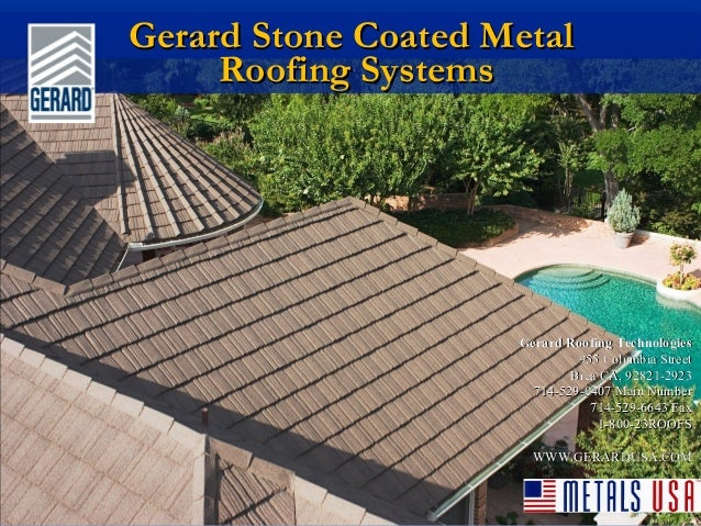 Gerard Stone Coated MetalGerard Stone Coated MetalRoofing SystemsRoofing SystemsGerard Roofing TechnologiesGerard Roofing ...