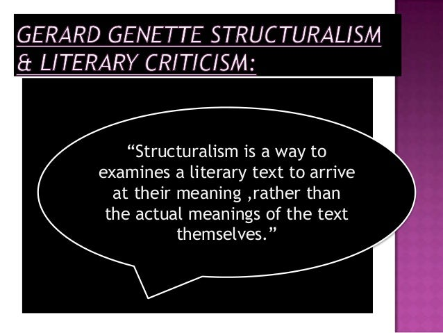 structuralism and literary criticism (before you go on, you might like to refresh your memory by reading the  introduction to literary and critical theory) monsieur saussure.