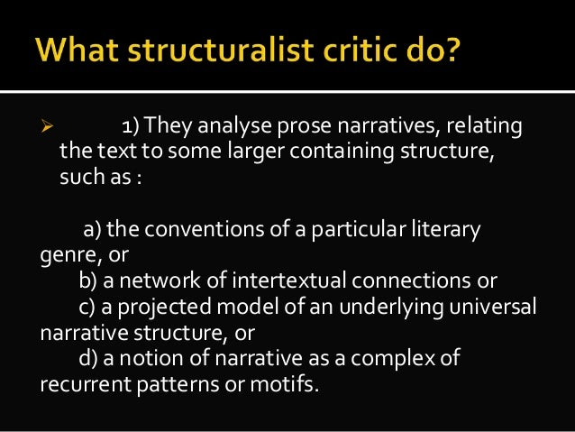 how to analyse structure in literature
