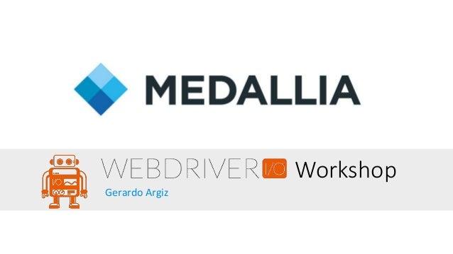 Workshop Gerardo Argiz