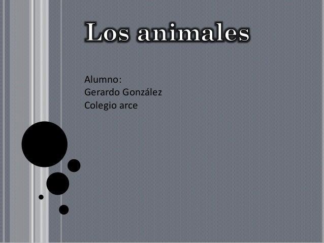 Alumno:Gerardo GonzálezColegio arce