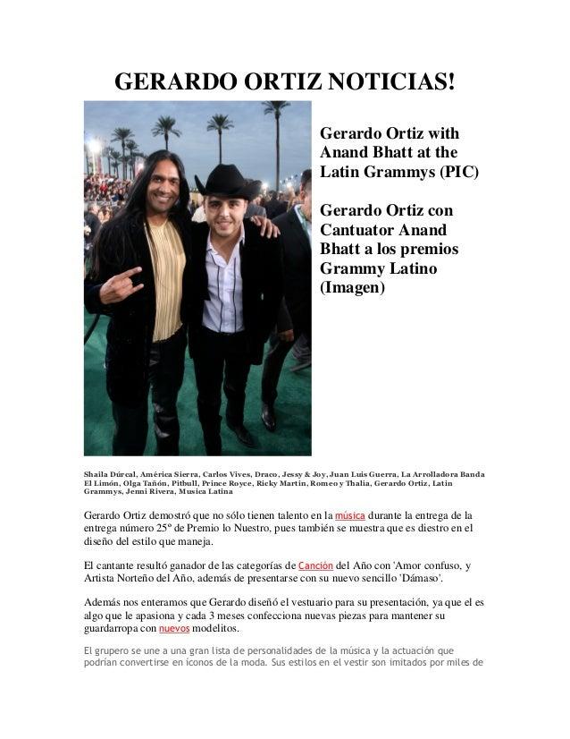 GERARDO ORTIZ NOTICIAS!                                                            Gerardo Ortiz with                     ...